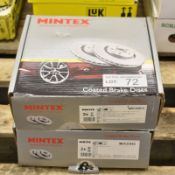 2x Mintex Coated Brake Disc Sets - models - MDC2087C & MDC2304C