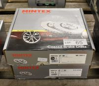2x Mintex Coated Brake Disc Sets - models - MDC2551C & MDC2518C