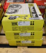 3x LUK Repset Pro Clutch Kits - Models - 623 3124 33, 623 3210 33 & 624 3050 34