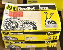 2x LUK Repset Pro Clutch Kits - Models - 624 3435 33 & 624 3441 33