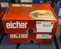 2x Eicher Brake Disc Sets - Please see pictures for model numbers