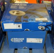2x Pagid Brake Disc Sets - Please see pictures for model numbers