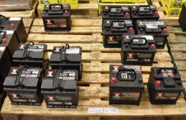 Vehicle batteries - Yuasa YBX3102 - 12V 42Ah 390A, Yuasa YBX3004 - 12V 50Ah 450A, 5x Yuasa