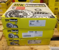 3x LUK Repset Clutch Kits - Models - 623 3044 00, 623 3278 00 & 624 3136 09