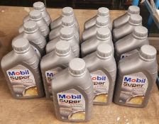 17x Mobil Super 3000 X1 5W-40 Fully Synthetic Motor Oil - 1L