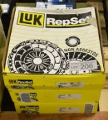 3x LUK Repset Clutch Kits - Models - 625 3100 00, 625 3102 00 & 625 3068 00