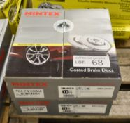 2x Mintex MDC2550C Coated Brake Disc Sets