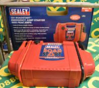 Sealey RS1 12v Roadstart Emergency Jump Starter 1000 Peak Amps