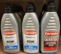 8x Carlube Driveline 80W Manual Transmission Fluid - 1L & 4x Carlube ATF-G Automatic Trans