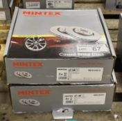 2x Mintex Coated Brake Disc Sets - models - MDC2481C & MDC2530C
