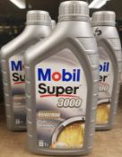 9x Mobil Super 3000 X1 5W-40 Fully Synthetic Motor Oil - 1L
