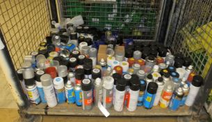 Various Spray Paints, Lubricants, Engine Flush/Cleaners - Please see pictures for examples