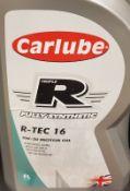 3x Carlube Fully Synthetic R-Tec 16 - 5W-30 Motor Oil - 5L