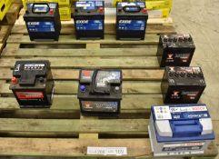 Vehicle batteries - 1x Bosch S4 004 - 12V 540A 60Ah, 2x Yuasa 895 - 12V 250A 26Ah, Yuasa Y