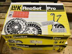 2x LUK Repset Pro Clutch Kits - Models - 624 3435 33 & 624 3394 33