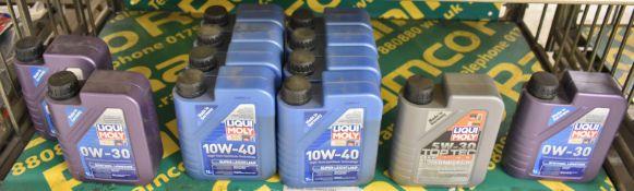 Liqui Moly 0W-30 Synthoil Longtime 3x 1LTR bottles, Liqui Moly 10W-40 Super Leichtlauf oil