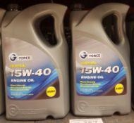2x G Force Mineral 15W-40 A3/B4 Engine Oil - 5L