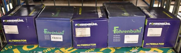 5x Fohrenbuhl Alternators - Please see pictures for model numbers