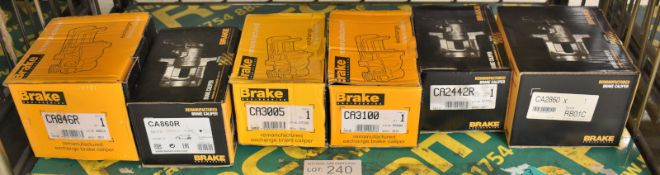 6x Brake engineering brake calipers - see pictures for model numbers