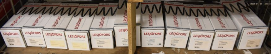 11x Lesjofors Coil Springs - Please see pictures for examples of model numbers