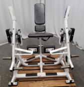 Hammer Strength ISO Lateral Leg Extension Machine (minor damage to seating)