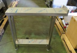 Catering Stainless steel table W 200mm x D 900mm x H 940mm
