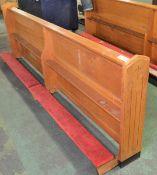 Wooden Church Kneeling Pew L 2520mm x W 380mm x H 840mm