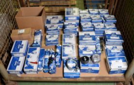 Vehicle parts - clamp fender bracket, coolant pipe, spindle, clamp, rod, centre bearing, s