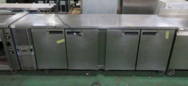 MCU-411 4 Door Counter Refrigerator L 660mm x W 2300mm x H 860mm