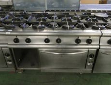 6 Burner Gas Oven Stainless steel L 900mm x W 1200mm x H 930mm