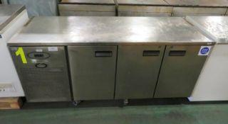 Foster PRO1/3H-A 3-Door Fridge Counter L 1860mm x W 700mm x H 860mm