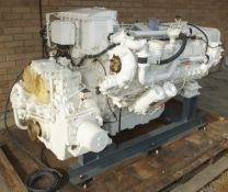 MTU 12V 183 engine - 610kW - 1310HP - 2100 RPM - looks to have only done test hours - very clean