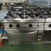 4 Burner Gas Oven Stainless steel L 900mm x W 800mm x H 930mm