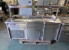 Servery counter - L 1900mm x W 800mm x H 1250mm