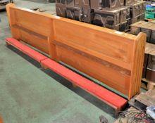 Wooden Church Kneeling Pew L 2900mm x W 380mm x H 840mm