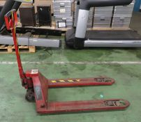 Pallet truck - in need of repair, doesn't pump and wheel at front broken