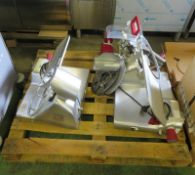 2x Berkel BSPGL04011A0F 12 commercial cooked meat slicers - AS SPARES