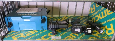 Makita DHP458 18v Cordless Percussion Drill Set