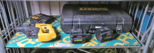DeWalt DW004 24v Cordless SDS Hammer Drill Set with 2 batteries, charger and case