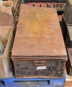 Metal Trunk with old newspapers - Radio Times Queens coronation 1953, Telegraph from vario