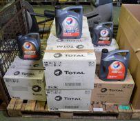 Total Rubia 4400 15W40 oil - 5LTR x6, Total Quartz INEO FIRST 0W-30 oil 5LTR x3, Total Qua