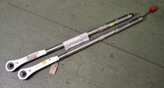 2x Britool EVTR 3000 Torque Wrenches 50-250LB FT