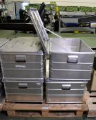 4x Zarges K470 Aluminium Storage Container L 770mm x W 580mm x H 400mm