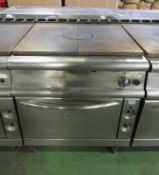 Gas Flat Top Stove And Oven L 930mm x W 800mm x H 900mm