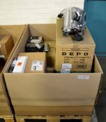 Vehicle parts - alternators, LH headlamps, fuel filters, adhesive - see picture for itiner