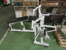 Hammer Strength Iso-Lateral leg curl gym station