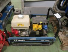SDMO HX 4000 TB UK Generator 4 Kw - 115/230v - Fuel Type