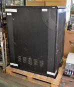 Black Server Cabinet W 800mm x D 1000mm x H 1300mm