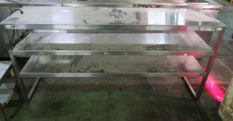 Francis 3-Tier Gantry Heated Shelf L 1840mm x W 450mm x H 900mm