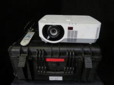 NEC DLP P502H Projector with Peli type case. Lamp type NP39LP